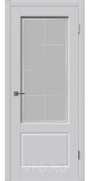 Эмалированная дверь Шеффилд ДО светло серый