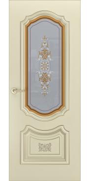 Дверь эмаль Соло R0 B3 ДО шампань патина золото
