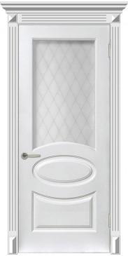 Дверь эмаль Мадрид ДО белый