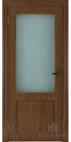 Дверь межкомнатная ВЕРСАЛЬ 40004 со стеклом экошпон цвет дуб кавказский