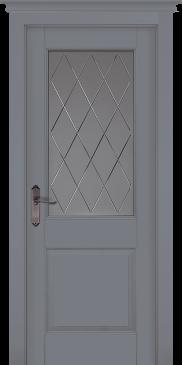 Дверь Элегия Грей ПО (эмаль)