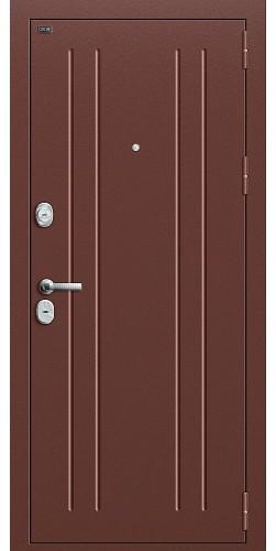 Входная дверь T2-232 Антик Медь/Brown Oak