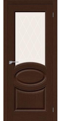 Дверь шпонированная со стеклом Статус-21 цвет Ф-27 (Венге)