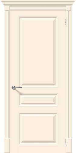 Дверь межкомнатная эмаль глухая Скинни 14 цвет Cream