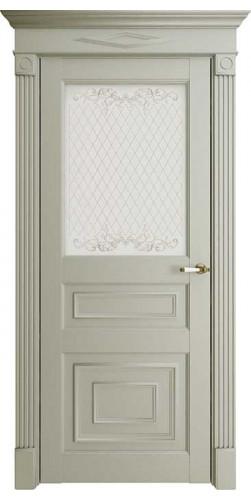 Дверь межкомнатная FLORENCE 62001 со стеклом экошпон цвет серена светло серый