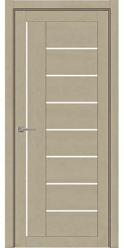 Дверь межкомнатная  Light 2110 SoftTouch со стеклом экошпон цвет кремовый