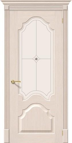 Межкомнатная дверь шпонированная со стеклом Афина Ф-20 (БелДуб)