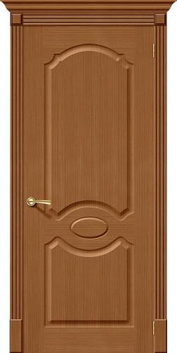 Дверь шпонированная глухая Селена цвет орех