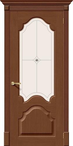 Межкомнатная дверь шпонированная со стеклом Афина Ф-12 (Орех)