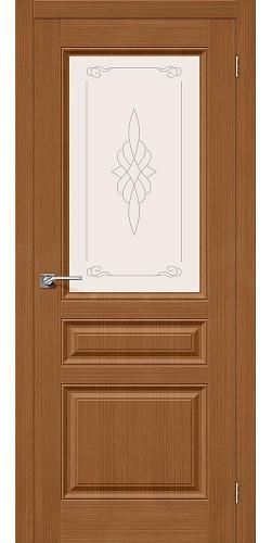 Дверь шпонированная со стеклом Статус-15 цвет Ф-11 (Орех)