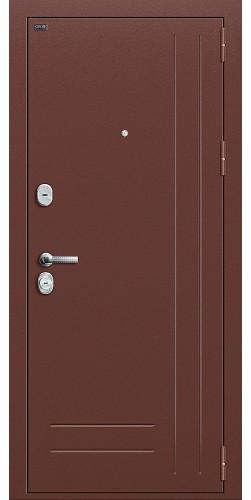 Входная дверь Р2-202 Антик Медь/П-4 (Золотой Дуб)