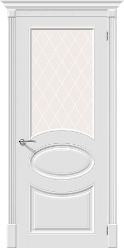 Межкомнатная дверь окрашенная Скинни-21 Whitey