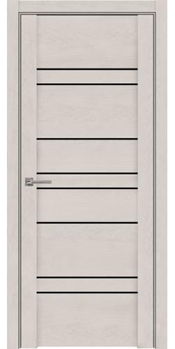 Дверь межкомнатная  UniLine 30032 SoftTouch со стеклом экошпон цвет бьянка
