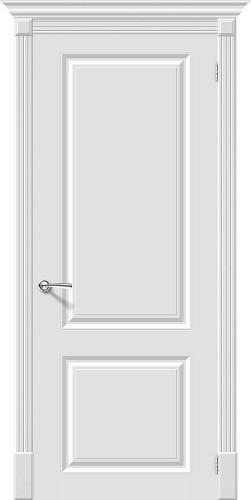 Дверь межкомнатная эмаль глухая Скинни-12 цвет Whitey