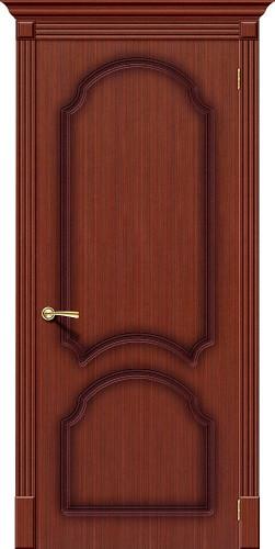 Дверь шпонированная глухая Соната цвет Ф-15 (Макоре)