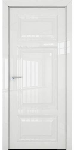Дверь межкомнатная глянцевая 2.104L глухая цвет белый люкс