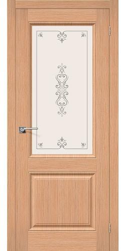 Дверь шпонированная со стеклом Статус-13 цвет Ф-01 (Дуб)