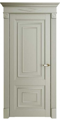Дверь межкомнатная FLORENCE 62002 глухая экошпон цвет серена светло серый