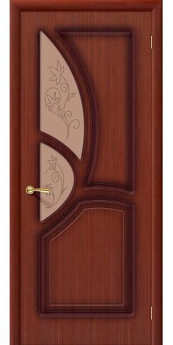 Дверь шпонированная со стеклом Греция цвет Ф-15 (Макоре)