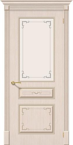 Межкомнатная дверь шпонированная со стеклом Классика Ф-20 (БелДуб)