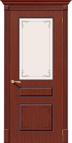 Межкомнатная дверь шпонированная со стеклом Классика Ф-15 (Макоре)