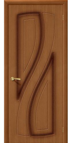 Дверь шпонированная глухая Лагуна Ф-11 (Орех)