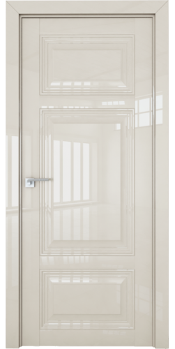 Дверь межкомнатная глянцевая 2.104L глухая цвет магнолия люкс
