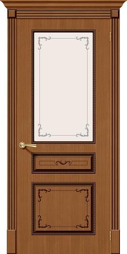 Межкомнатная дверь шпонированная со стеклом Классика Ф-11 (Орех)
