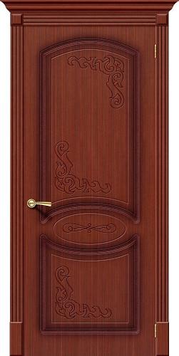Дверь шпонированная глухая Азалия цвет Ф-15 (Макоре)