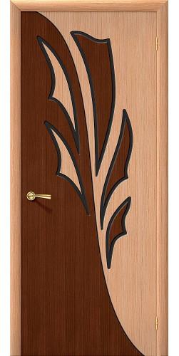 Дверь шпонированная глухая Дуэт цвет дуб