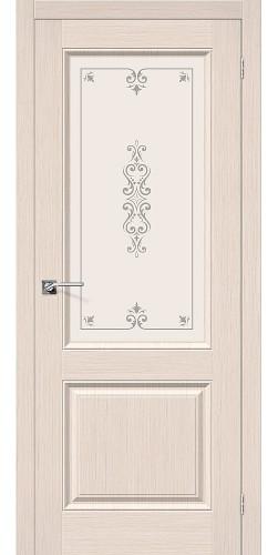 Дверь шпонированная со стеклом Статус-13 цвет Ф-20 (БелДуб)