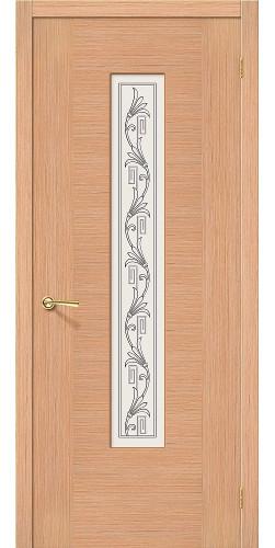 Дверь шпонированная со стеклом Рондо цвет Ф-01 (Дуб)