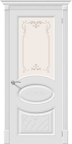 Межкомнатная дверь окрашенная Скинни-21 Аrt Whitey