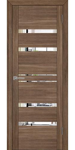 Дверь межкомнатная  UniLine 30030 с зеркалом экошпон цвет серый велюр