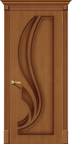 Дверь шпонированная глухая Лилия цвет орех