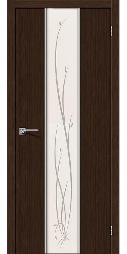 Межкомнатная дверь 3D Глейс-2 Twig 3D Wenge