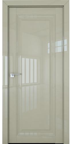 Дверь межкомнатная глянцевая 2.100L глухая цвет галька