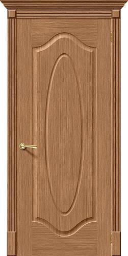 Дверь шпонированная глухая Аура ПГ Ф-02 (Дуб)