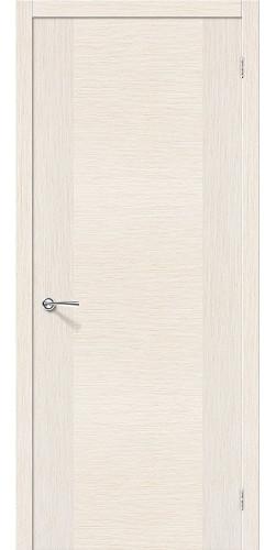 Дверь шпонированная глухая Рондо цвет беленый дуб