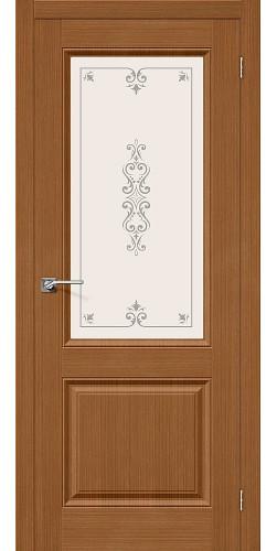 Дверь шпонированная со стеклом Статус-13 цвет Ф-11 (Орех)