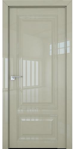 Дверь межкомнатная глянцевая 2.102L глухая цвет галька люкс