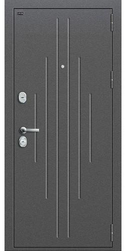 Входная дверь Р2-205 Антик Серебро/П-25 (Беленый Дуб)