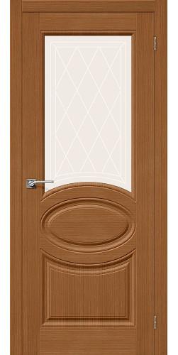 Дверь шпонированная со стеклом Статус-21 цвет Ф-11 (Орех)