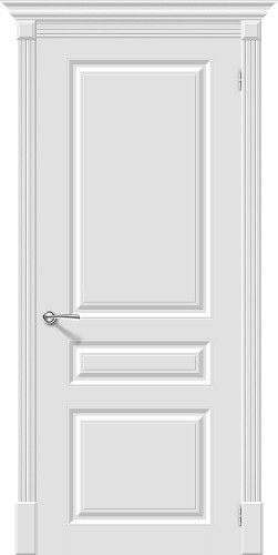 Дверь межкомнатная эмаль глухая Скинни 14 цвет Whitey