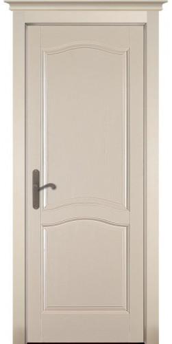 Дверь межкомнатная из массива сосны Лео Браш крем эмаль без стекла