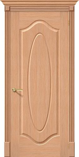 Дверь шпонированная глухая Аура ПГ Ф-01 (Дуб)