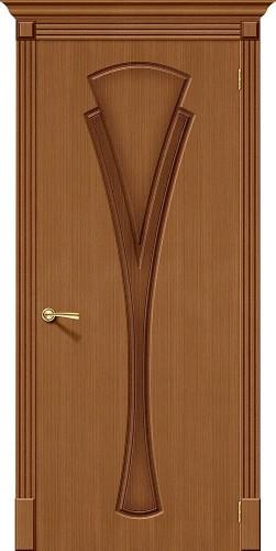 Межкомнатная дверь шпонированная Флора ПГ Ф-11 (Орех)