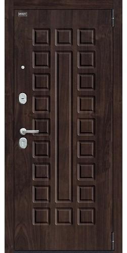Входная дверь Урбан_NEW П-28 (Темная Вишня)/Cappuccino Veralinga