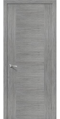 Дверь шпонированная глухая Рондо цвет серый дуб