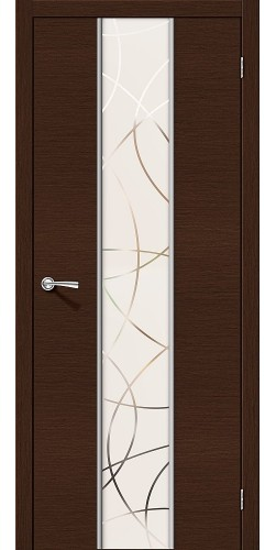 Дверь шпонированная со стеклом Карат цвет Ф-27 (Венге)